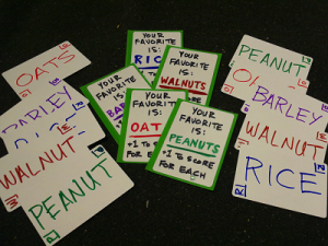 Nuts and Grains, featuring card-drafting and an open and flexible trade segment for high player interaction.